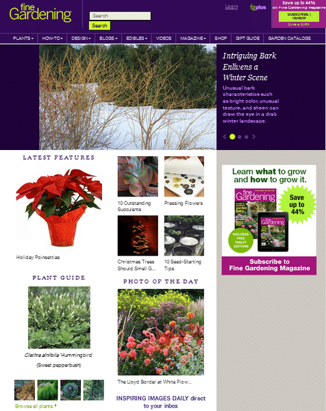 fine gardening magazine screenshot