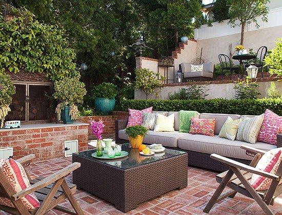 Stylish patio garden photo