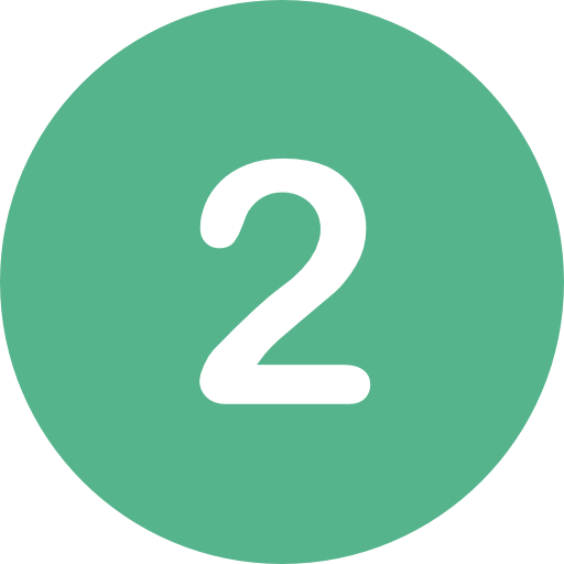 the number two in a green circle
